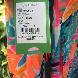 cb7abcb03298 Lilly Pulitzer Dresses - Lily Pulitzer Edona Romper Goombay Smashed Print